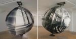 1988, 310 cm diamètre irrégulier, tirage argentique, montage sur contreplaqué Bcfer, structure en pin et acier